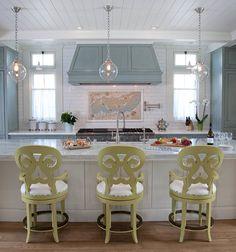 Kitchen pendants - The beach house renovation on Coronado Island-California, designed by Kim Grant Design Inc.
