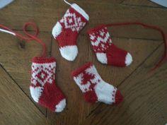 modele chaussette de noel tricot