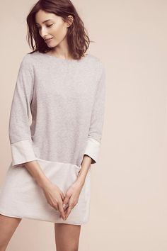 Clean & Simple   Terry Colorblock Tunic Dress