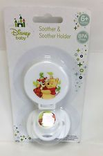 DISNEY WINNIE THE POOH Soother manichino e clip Holder NUOVO 0+