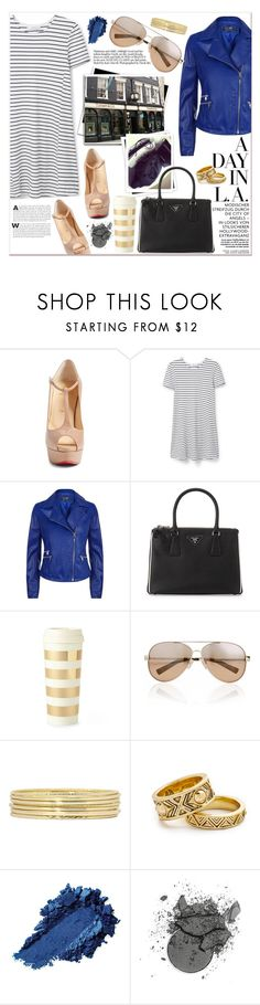 """A day in L. A."" by cjcstyle ❤ liked on Polyvore featuring Christian Louboutin, MANGO, Armani Jeans, xO Design, GALA, Prada, Kate Spade, Valentino, Liz Claiborne and House of Harlow 1960"