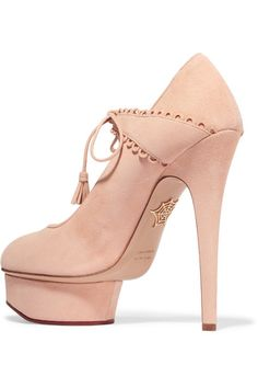 Charlotte Olympia - Ophelia Suede Pumps - Blush - IT38