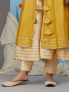 Discover thousands of images about Dark Cream Cotton Silk Pants Kurta Designs Women, Kurti Neck Designs, Salwar Designs, Kurti Designs Party Wear, Blouse Designs, Kurti Sleeves Design, Sleeves Designs For Dresses, Pakistani Dresses Casual, Pakistani Dress Design