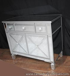 Photo of Mirrored Chest Drawers Cabinet Art Deco Mirror Furniture Mirror Furniture, Art Deco Furniture, Modern Furniture, Mirror Chest Of Drawers, Mirrored Sideboard, Art Deco Mirror, Light And Space, Wood Trim, Cabinet