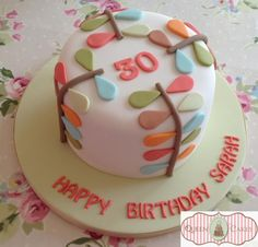 Pretty Orla Kiely design birthday cake