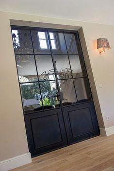 Front Door design incorporating diamonds like the cabinets. Crittal Doors, Door Design, House Design, Steel Doors And Windows, Interior And Exterior, Interior Design, Wrought Iron Doors, House Doors, Internal Doors
