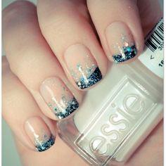 scattered glitter tips