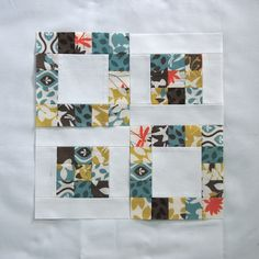 : scrappy quilt blocks I like the negative/positive. Idea for striped green material I have and solid matching colors. I want to do in Mon Ami fabric line by Moda sewing patterns plus size women interfacing for sewing iron on blue . Patchwork Quilting, Scrappy Quilt Patterns, Scrappy Quilts, Easy Quilts, Mini Quilts, Quilt Blocks Easy, Strip Quilts, Patch Quilt, Quilting Projects