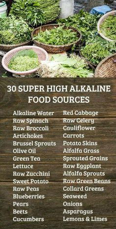 30 SUPER HIGH ALKALINE FOOD SOURCES Learn more about alkaline rich Kangen Water the hydrogen rich antioxidant loaded ionized water that neutralizes free radicals that cau. Raw Broccoli, Raw Spinach, Sprouting Sweet Potatoes, Healthy Life, Healthy Eating, Healthy Weight, Eating Vegan, Porto Rico, Hypothyroidism Diet