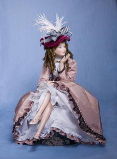 Lydia by Sonja Bryer Miniature Crafts, Miniature Dolls, Pretty Dolls, Beautiful Dolls, Ooak Dolls, Barbie Dolls, Baby Nap Mats, Half Dolls, Period Costumes