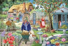 In the Garden by Ray Cresswell