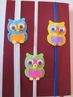 Diy Projects For Kids, Diy For Kids, Hobbies For Kids, Felt Owls, Book Markers, Birthday Candles, Origami, Crafty, Handmade