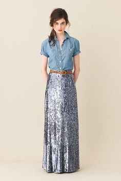 long sequins skirt... So want this!!!!
