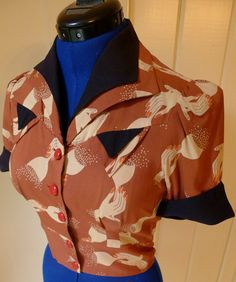 The best repro 1940s blouse evers by snootylilcutie on Etsy