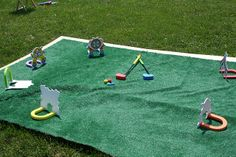 I love this circus mini golf idea by moore family and kids, via Flickr