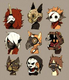 Art board style: put the members of the khyess tournament Character Creation, Character Concept, Character Art, Concept Art, Game Character Design, Monster Design, Character Design References, Character Design Inspiration, Creature Design