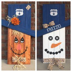 Reversible Scarecrow Snowman Police Law by SouthernGritDesign
