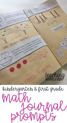 Are you like me? A busy teacher finding back to school crazy busy? Check out these engaging, fun journal prompts for kindergarten and first grade students are perfect for smal group instruction and independent math activities. I love how this set includes
