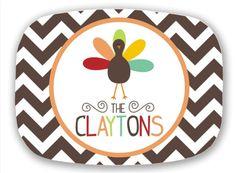 cute! Thanksgiving Turkey Melamine Platter by DarrahDesigns on Etsy melamin platter, season greet, christma stuff, thanksgiv platter, christma tree, christma idea, gift idea, christmas trees, jna idea
