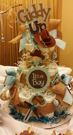 Click the link for more on diaper cake -> Buying your baby shower event gown can be extremely expensive.If you are shopping, consider dresses that are… – Baby Shower Baby Shower Cake Sayings, Boy Baby Shower Themes, Baby Boy Shower, Baby Shower Gifts, Cowboy Diaper Cakes, Diaper Cake Boy, Horse Baby Showers, Cowboy Baby Shower, Baby Shower Diapers