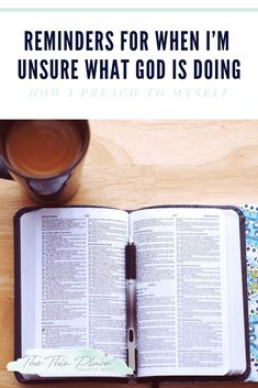 How I Preach to Myself When I'm Unsure What God is Doing Bible Studies For Beginners, Bible Study Tips, Bible Lessons, Christian Marriage, Christian Faith, Christian Living, Christian Women, Hope In God, Faith In God