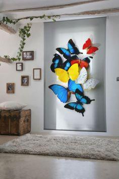 Beautiful butterfly window bilnders colourful and beautiful 3d Butterfly Wall Decor, Butterfly Painting, Butterfly Art, Butterflies, Fabric Wall Art, Diy Wall Art, Wood Wall Art, Creative Walls, Creative Design