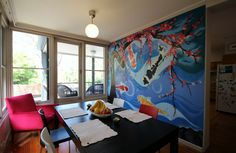 Koi Fish And Cherry Blossom Dining Room Wall Art By KIL Productions Eaglemont Residential November