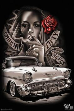 Top Canvas Designs Art Wallpaper Images for Womens Arte Cholo, Cholo Art, Chicano Style Tattoo, Chicano Tattoos, Arte Lowrider, Aztecas Art, Arte Do Hip Hop, Chicano Drawings, Lowrider Drawings