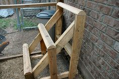 roosts for chicken coops | Three tiered chicken roost.