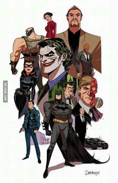 Artist Dan Mora created this cool piece of Batman fan art. It shows us what Christopher Nolan 's Dark Knight trilogy would have looked like in the style of Bruce Timm , who gave us Batman: The Animated Series . Bruce Timm, Posters Batman, Batman Artwork, Batman Fan Art, The Dark Knight Trilogy, Batman The Dark Knight, The Dark Knight Rises, Arte Dc Comics, Dc Comics Art