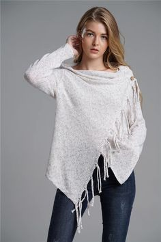 High Quality Two Wear Fashionable Fringed Sweaters Acrylic Fiber, Pullover Sweaters, Bell Sleeve Top, Tunic Tops, Product Description, Long Sleeve, Casual, Sleeves, Pattern