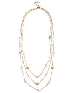 Shop Prima Donna - Selena Disco Strand Necklace Natural