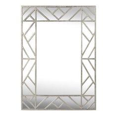 Worlds Away Meghan Silver Mirror