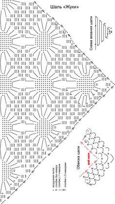 "Shawl ""Bugs"" - a shawl, knitting, needlework"