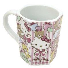 Amazon.co.jp: ハローキティ《タイニーチャーム》ヘキサゴン(六角形)マグカップ(陶器製): おもちゃ
