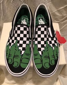 a0ad84c0c9 VANS x MARVEL 2018 (HULK) SLIP ON BLACK GREEN CHECKERBOARD SHOES MENS SZ 10  NEW  fashion  clothing  shoes  accessories  mensshoes  casualshoes (ebay  link)
