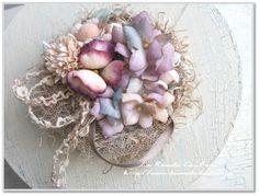 Petit Pas展で販売する布花のヘアコサージュ の画像|mikaブログ