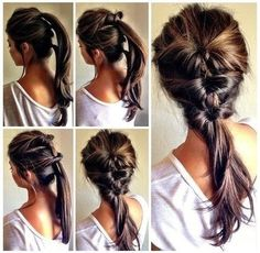 An easy everyday #Hair #Style from 3 Ponytails