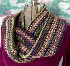 Crochet Infinity Scarf Monet Garden Green by WildHeartYarnings, $36.00