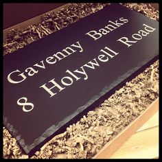 Welsh slate house sign - deep engraved and hand painted in South Wales. Add some curb appeal to your home!