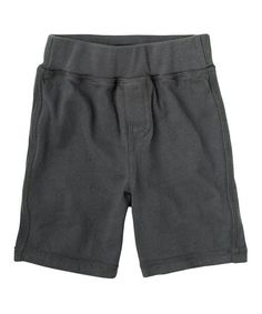 Look what I found on #zulily! Iron Gray Knit Short - Infant, Toddler & Boys #zulilyfinds