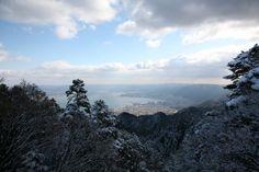 View of Biwa-ko from Enryakuji on Mt. Hiei, Shiga, Japan.