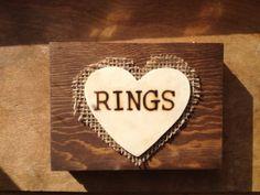 Rustic Ring Bearer Box with Burlap