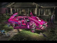 Painting With Light : Lowrider Car