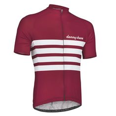 Gent Performance Jersey - Ruby | DannyShane | Designer Cycling Apparel of Bamboo White Ash Fabric