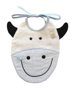 Take a look at this Pink Cow Bib by Zigozago on #zulily today!
