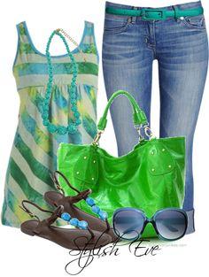 Women apparel from fashion designers and fashion design schools Summer Wear, Spring Summer Fashion, Summer Outfits, Casual Outfits, Cute Outfits, Summer Fall, Spring Green, Casual Summer, Summer 2016