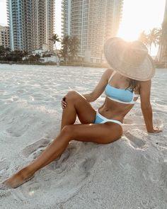 White sand beaches and warm ocean water are my heaven! Best Swimwear, Bikini Swimwear, Bikinis, Beach Trip, Vacation Trips, Spring Fashion Outfits, Girl Fashion, Spring Looks, Spring Style