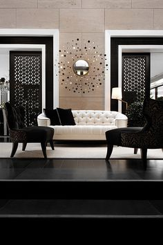 #black #white #b #living-room #space #interior #design #decor #furniture #furnish #home #house #room indigoss.com