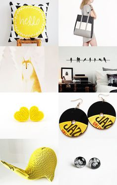 yellow and black summer by Maria Caterina Delucis on Etsy--Pinned with TreasuryPin.com